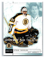 (HCW) 2002-03 UD Mask Collection #9 Jeff Hackett/Steve Shields Bruins