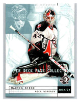 (HCW) 2002-03 UD Mask Collection #11 Mika Noronen/Martin Biron Sabres