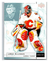 (HCW) 2002-03 UD Mask Collection #14 Jamie McLennan/Roman Turek Flames