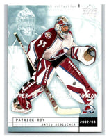 (HCW) 2002-03 UD Mask Collection #21 David Aebischer/Patrick Roy Avalanche