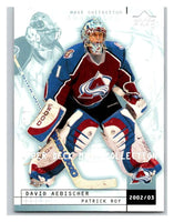 (HCW) 2002-03 UD Mask Collection #22 David Aebischer/Patrick Roy Avalanche