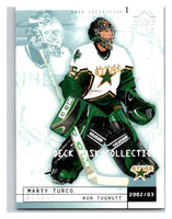 (HCW) 2002-03 UD Mask Collection #26 Marty Turco/Ron Tugnutt Stars