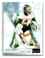 (HCW) 2002-03 UD Mask Collection #27 Marty Turco/Ron Tugnutt Stars