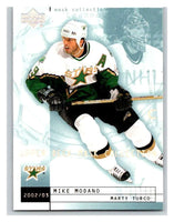 (HCW) 2002-03 UD Mask Collection #28 Marty Turco/Mike Modano Stars