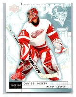 (HCW) 2002-03 UD Mask Collection #30 Curtis Joseph/Manny Legace Red Wings