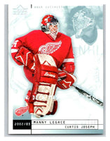(HCW) 2002-03 UD Mask Collection #31 Curtis Joseph/Manny Legace Red Wings