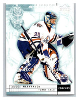 (HCW) 2002-03 UD Mask Collection #35 Tommy Salo/Jussi Markkanen Oilers