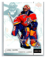 (HCW) 2002-03 UD Mask Collection #38 Roberto Luongo/Jani Hurme Panthers