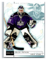 (HCW) 2002-03 UD Mask Collection #39 Felix Potvin/Jamie Storr Kings