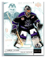 (HCW) 2002-03 UD Mask Collection #40 Felix Potvin/Jamie Storr Kings