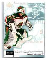 (HCW) 2002-03 UD Mask Collection #42 Dwayne Roloson/Manny Fernandez Wild