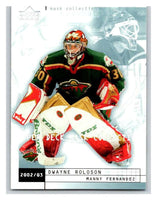 (HCW) 2002-03 UD Mask Collection #43 Dwayne Roloson / Manny Fernandez Wild
