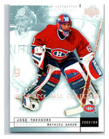 (HCW) 2002-03 UD Mask Collection #45 Jose Theodore/Mathieu Garon Canadiens