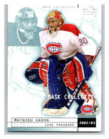 (HCW) 2002-03 UD Mask Collection #46 Mathieu Garon/Jose Theodore Canadiens