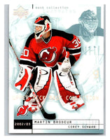 (HCW) 2002-03 UD Mask Collection #50 Corey Schwab/Martin Brodeur NJ Devils