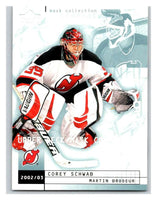 (HCW) 2002-03 UD Mask Collection #51 Corey Schwab/Martin Brodeur NJ Devils