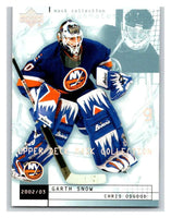 (HCW) 2002-03 UD Mask Collection #52 Chris Osgood/Garth Snow NY Islanders