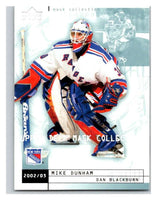 (HCW) 2002-03 UD Mask Collection #54 Dan Blackburn/Mike Dunham NY Rangers