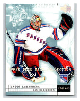 (HCW) 2002-03 UD Mask Collection #56 Dan Blackburn/Jason Labarbera NY