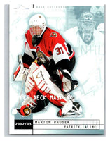 (HCW) 2002-03 UD Mask Collection #59 Martin Prusek/Patrick Lalime Senators