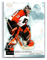 (HCW) 2002-03 UD Mask Collection #60 Robert Esche/Roman Cechmanek Flyers