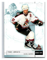 (HCW) 2002-03 UD Mask Collection #67 Sean Burke/Tony Amonte Coyotes