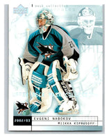 (HCW) 2002-03 UD Mask Collection #72 Evgeni Nabokov/Miikka Kiprusoff Sharks