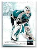 (HCW) 2002-03 UD Mask Collection #73 Vesa Toskala/Evgeni Nabokov Sharks