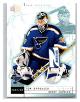 (HCW) 2002-03 UD Mask Collection #76 Tom Barrasso/Brent Johnson Blues