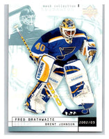 (HCW) 2002-03 UD Mask Collection #77 Brent Johnson/Fred Brathwaite Blues