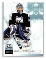 (HCW) 2002-03 UD Mask Collection #79 Kevin Hodson/Nikolai Khabibulin Lightning