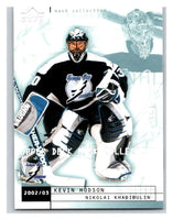 (HCW) 2002-03 UD Mask Collection #80 Kevin Hodson/Nikolai Khabibulin Lightning