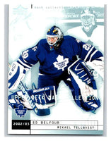 (HCW) 2002-03 UD Mask Collection #82 Trevor Kidd/Ed Belfour Maple Leafs