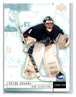 (HCW) 2002-03 UD Mask Collection #86 Dan Cloutier/Peter Skudra Canucks