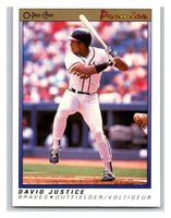 1991 O-Pee-Chee Premeir #70 David Justice Braves MLB Mint
