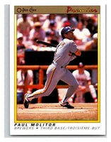1991 O-Pee-Chee Premeir #82 Paul Molitor Brewers MLB Mint