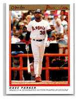 1991 O-Pee-Chee Premeir #94 Dave Parker Angels MLB Mint