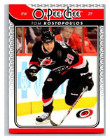2009-10 O-Pee-Chee #732 Tom Kostopoulos Hurricanes Mint NHL