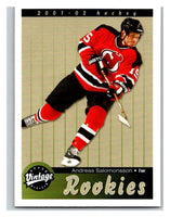 2001-02 Upper Deck Vintage #286 Andreas Salomonsson MINT Hockey NHL RC 02801