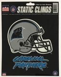 "Carolina Panthers 6""x6"" NFL Static Clings for inside of car windows or glass"