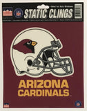 "Arizona Cardinals 6""x6"" NFL Static Clings for inside of car windows or glass"