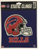 "Buffalo Bills 6""x6"" NFL Static Clings for inside of car windows or glass"