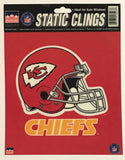 "Kansas City Chiefs 6""x6"" NFL Static Clings for inside of car windows or glass"