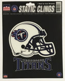 "Tennessee Titans 6""x6"" NFL Static Clings for inside of car windows or glass"