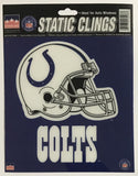 "Indianapolis Colts 6""x6"" NFL Static Clings for inside of car windows or glass"