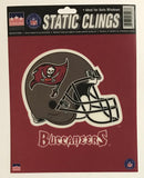 "Tampa Bay Buccaneers 6""x6"" NFL Static Clings for inside of car windows or glass"