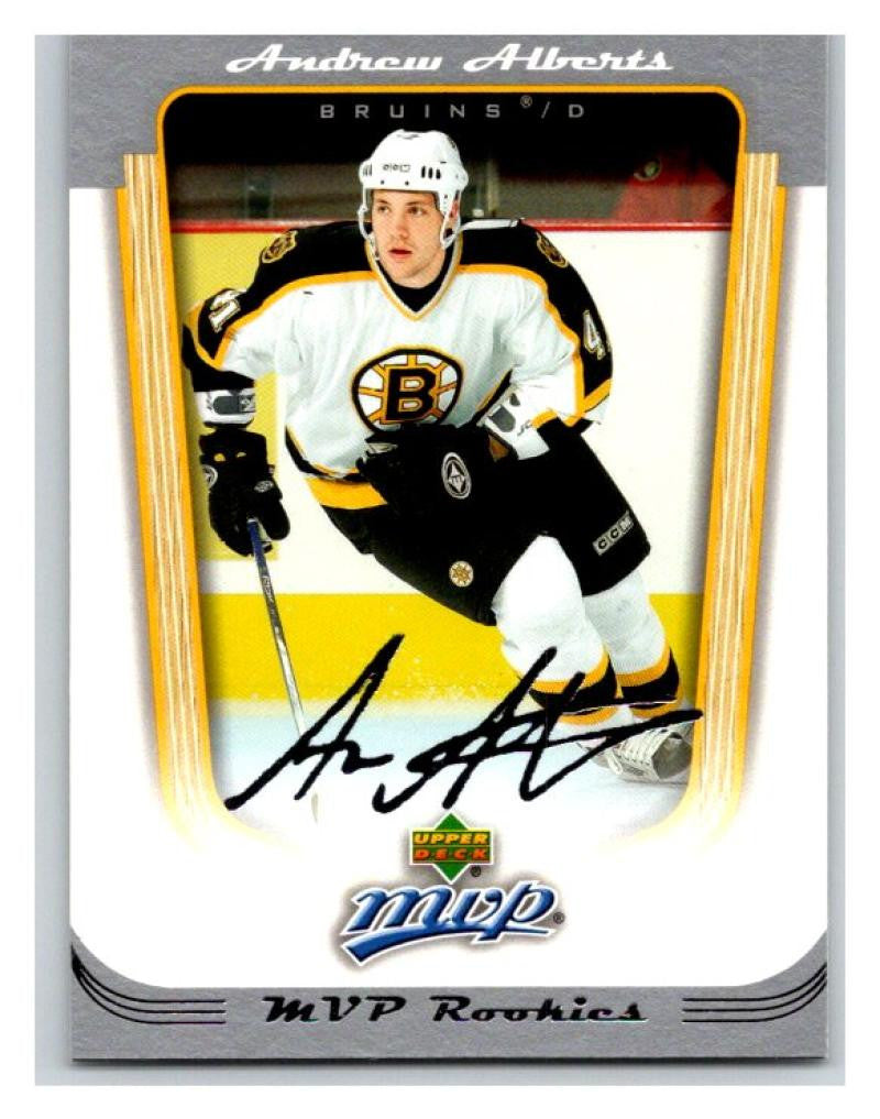 2005-06 Upper Deck MVP #433 Andrew Alberts MINT Hockey NHL Rookie Bruins 02880