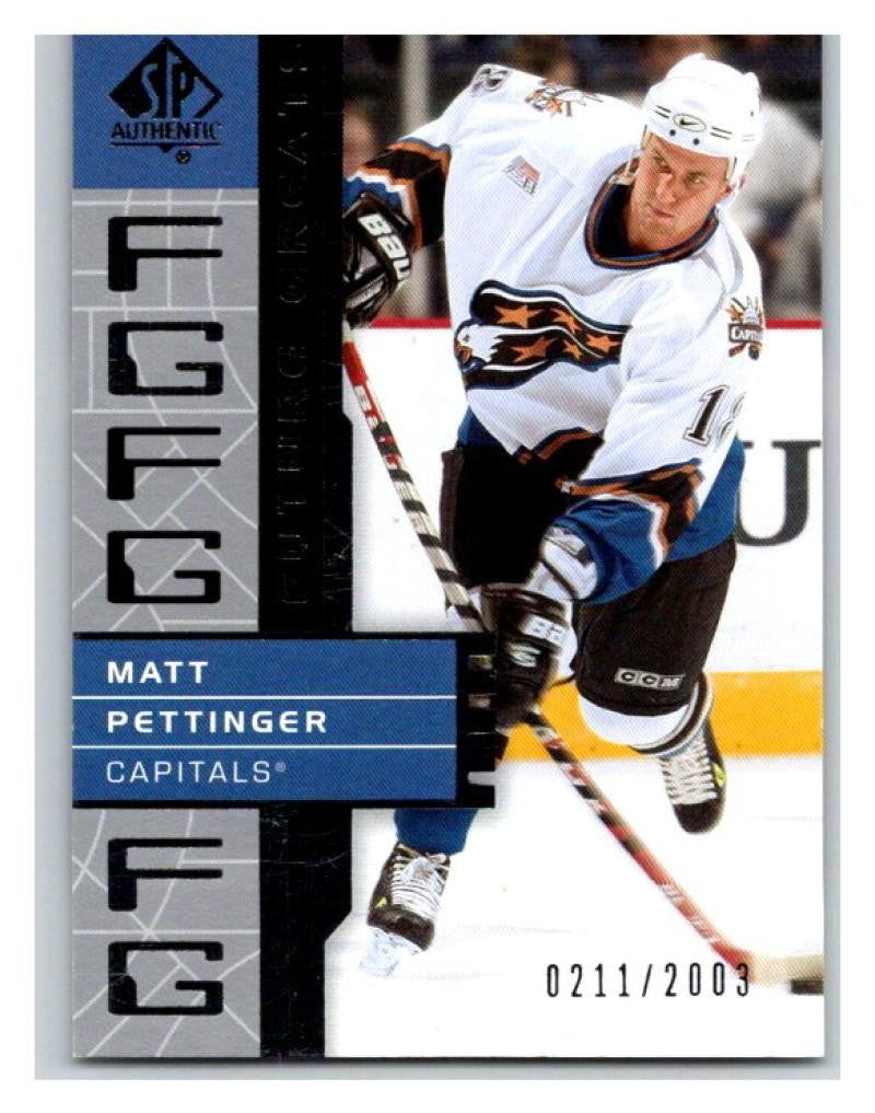 2002-03 SP Authentic #135 Matt Pettinger MINT Hockey NHL 211/2003 UD 02894