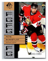 2002-03 SP Authentic #126 Petr Schastlivy MINT Hockey NHL 693/2003 UD 02890