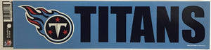 "(HCW) Tennessee Titans 3"" x 12"" Bumper Strip NFL Football Sticker Decal"